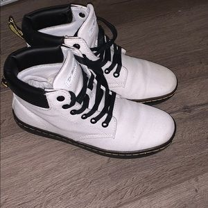 Dr. Martens white canvas